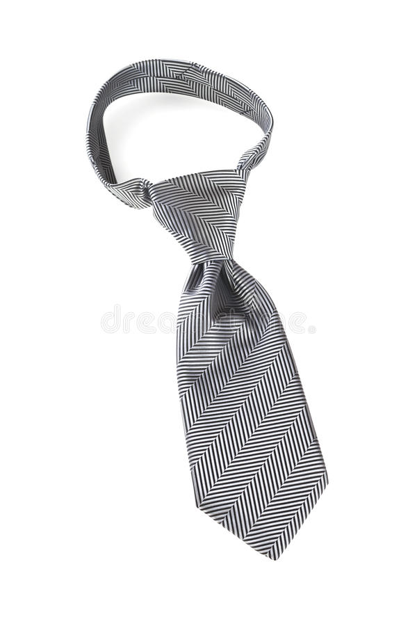 Grey Necktie With Windsor Knot Royalty Free Stock Images