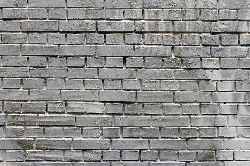 Grey Painted Brick Wall foto de stock royalty free