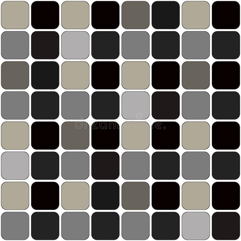 Grey Patch Board Repeatable Pattern foncé sur le blanc illustration libre de droits