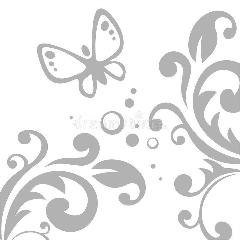 Grey pattern and butterfly royalty free stock photo