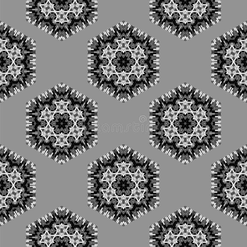 Grey Pattern sem emenda decorativo criativo ilustração stock