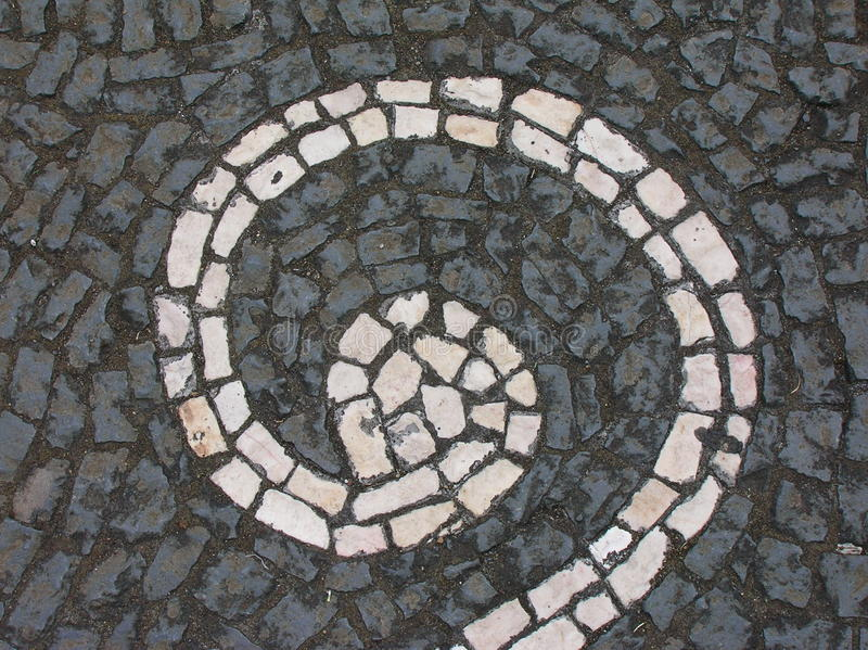 Download Grey Paving With White Spiral Stock Photo - Image: 21558370