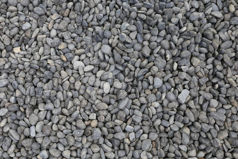 Grey Pebble floor texture, top view. royalty free stock image