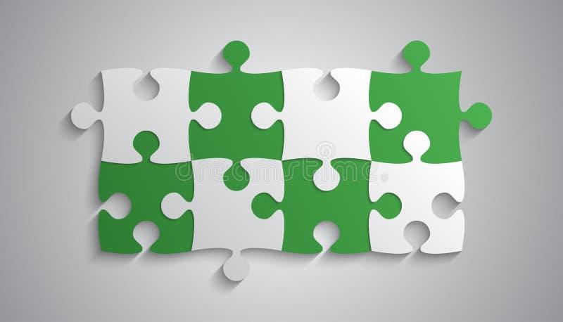 Grey Piece Puzzle Rectangle Banner verde Rompecabezas libre illustration