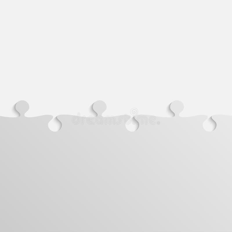 Grey Piece Puzzle Rompecabezas ilustración del vector