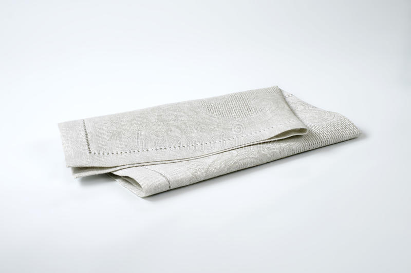 Grey place mat. On white background royalty free stock photo