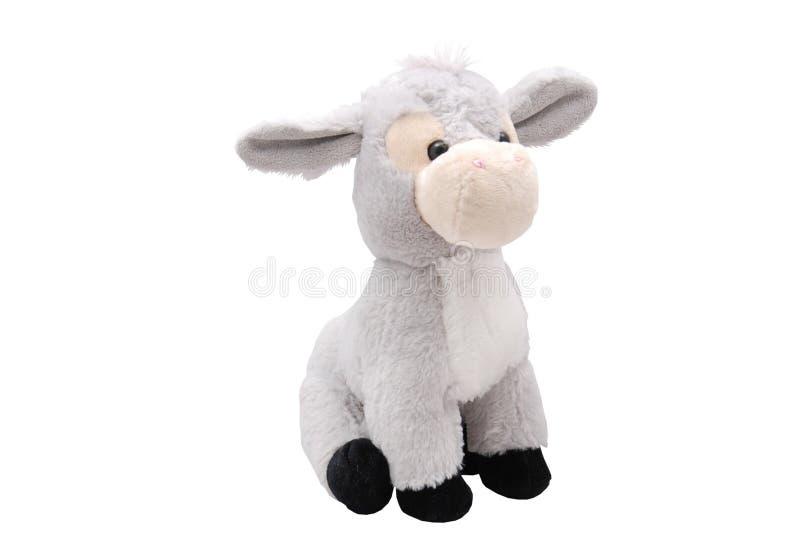 Grey Plush Donkey Toy royalty free stock photo