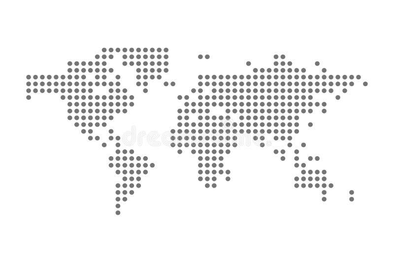 Grey Political World Map Vetora isolou a ilustração ilustração royalty free