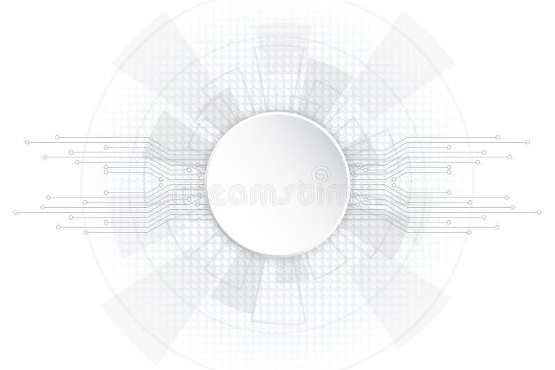 Grey Polygonal Space Background abstrato com pontos e linhas de conexão ilustração royalty free