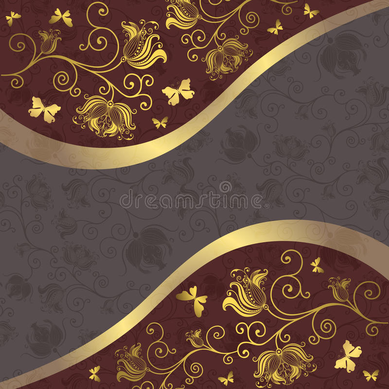 Download Grey and purple-gold frame stock vector. Illustration of silver - 23588346