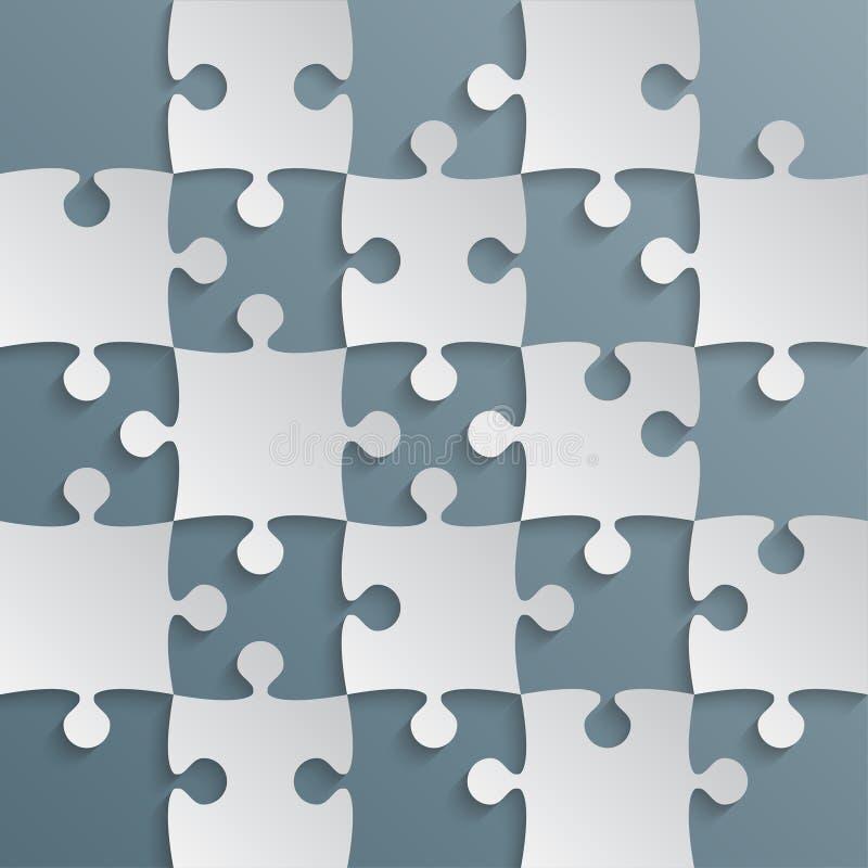 Grey Puzzle Pieces Blue Grey - ajedrez del campo del rompecabezas ilustración del vector