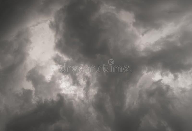 Only a grey rainy sky royalty free stock image