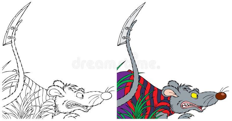 Grey rat pirate royalty free illustration