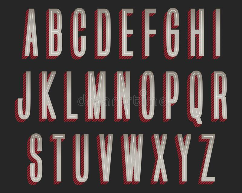 Grey Red Colorful Typography Design audace royalty illustrazione gratis