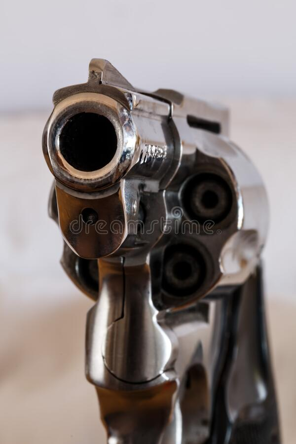 Download Grey Revolver stock image. Image of firearm, close, weapon - 83015027