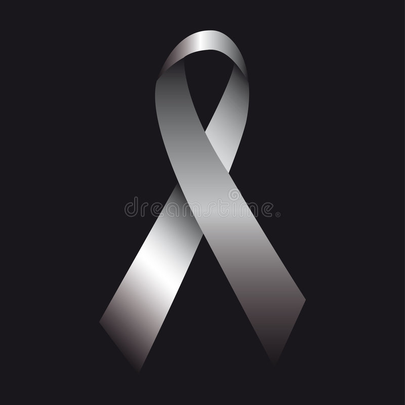 Grey ribbon stock image