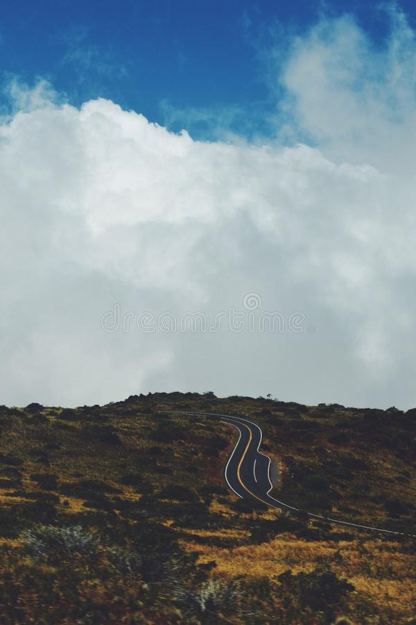 Grey Road Beside Black Brown Grass Under Blue And White Sky Free Public Domain Cc0 Image