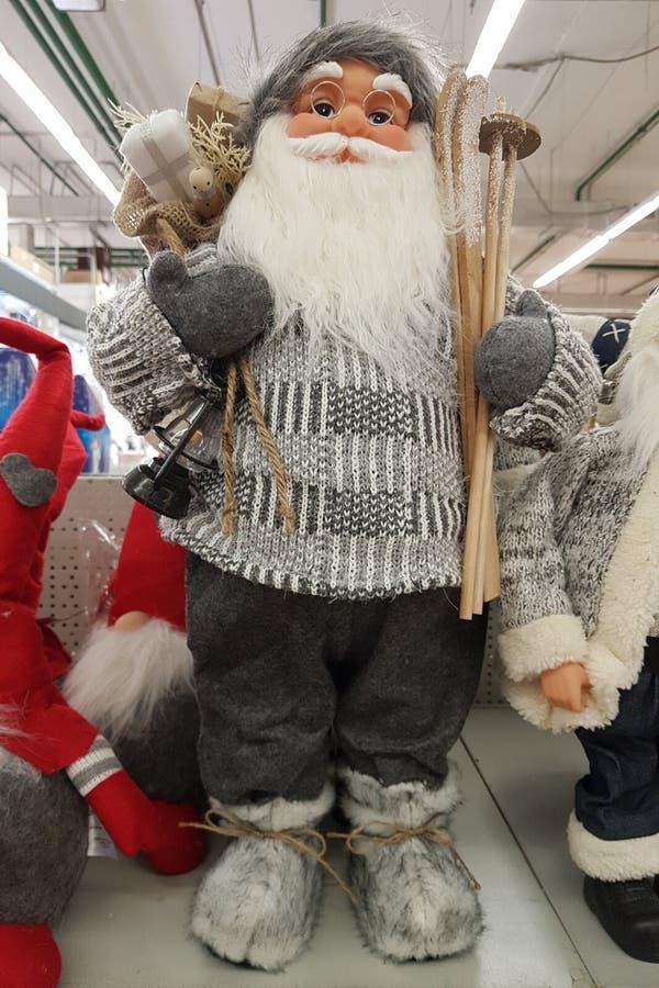 Grey Santa fotos de archivo