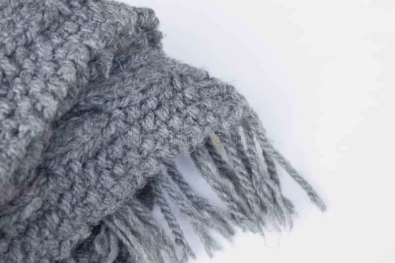 Grey scarves on white backgrounds royalty free stock images