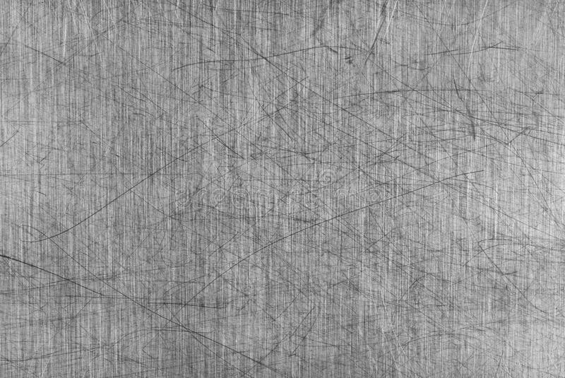 Grey Scratched Aluminium Table Board royalty free stock photos