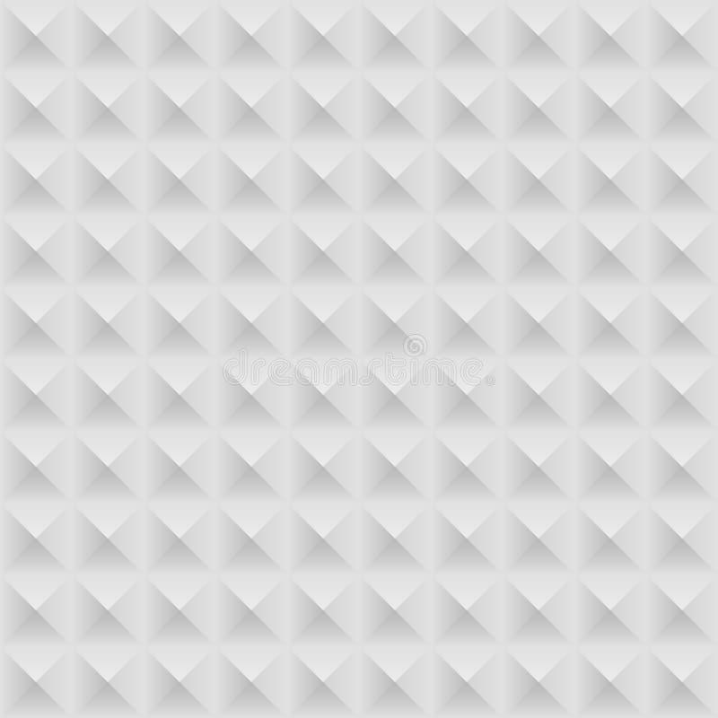 Grey Seamless Geometric Pattern bianco illustrazione vettoriale
