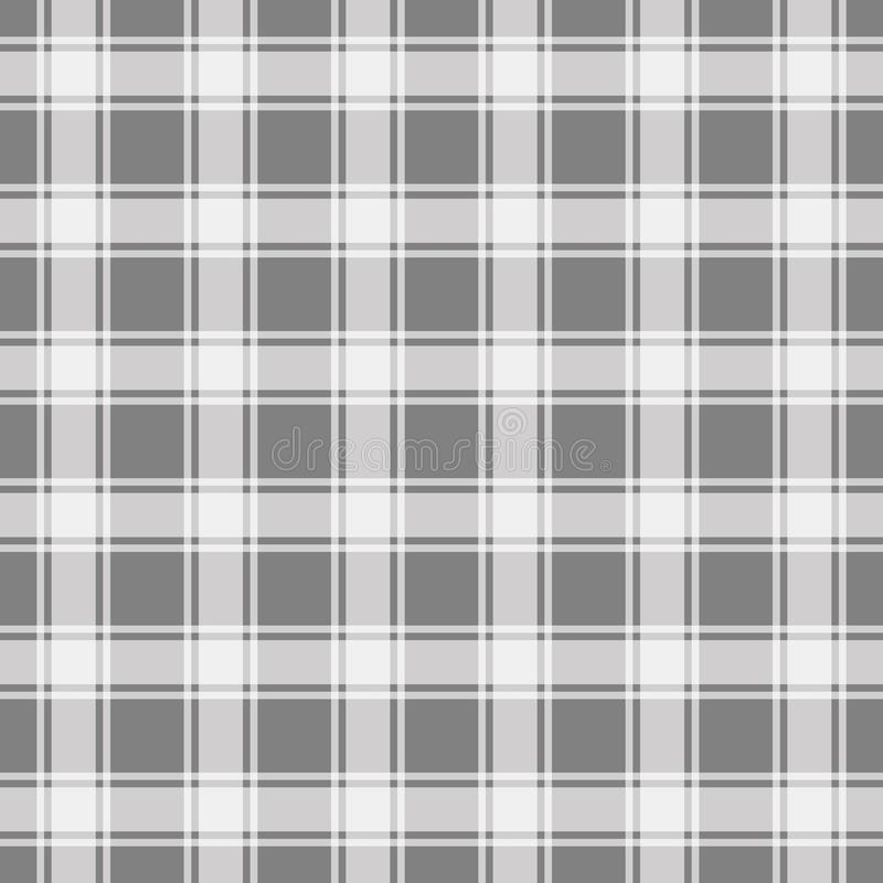 Grey seamless pattern, gingham background vector illustration