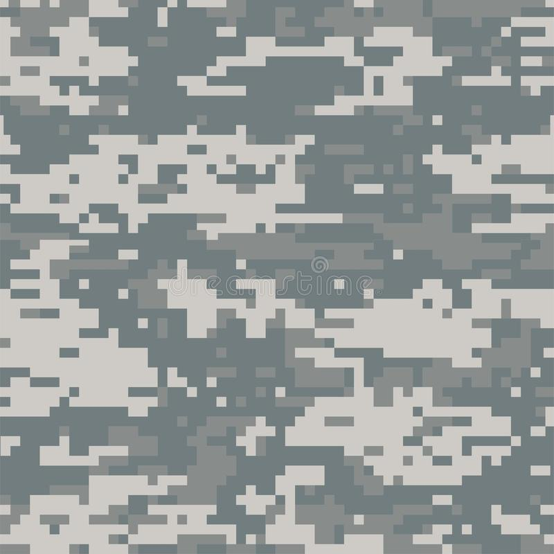 Grey senza cuciture del cammuffamento digitale astratto del modello illustrazione di stock