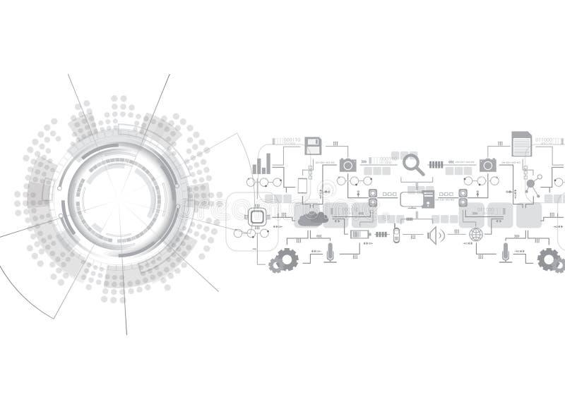 Grey Several Icon Technology vektor abbildung