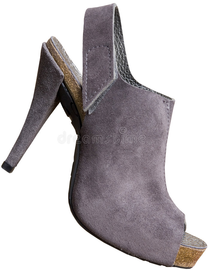 Grey shoes with high heels royalty free stock photography