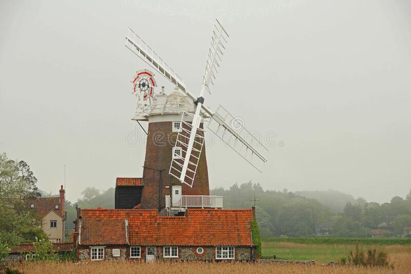 Grey Skies Over Cley Windmill, Norfolk, UK royalty free stock photo