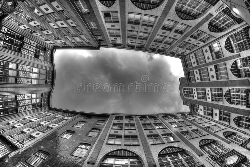 Grey Sky of Berlin, Germany royalty free stock images