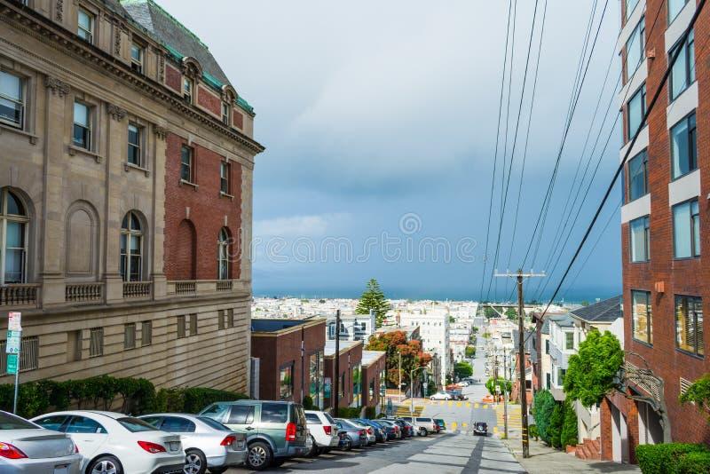 Grey sky in San Francisco. California stock photos