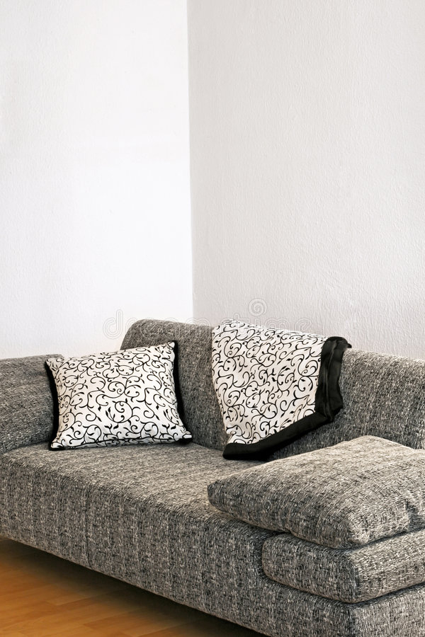 Download Grey sofa stock photo. Image of residential, grey, house - 4073680