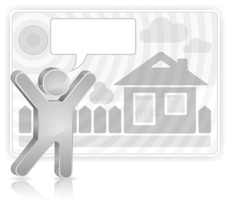 Download Grey Speech Sticker With Man Stock Vector - Image: 20817059