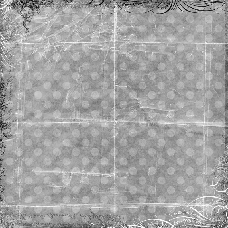 Grey Spotted Background with Lace trim