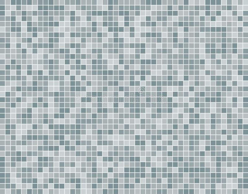 Grey Square Mosaic Tiles Background argenté illustration stock