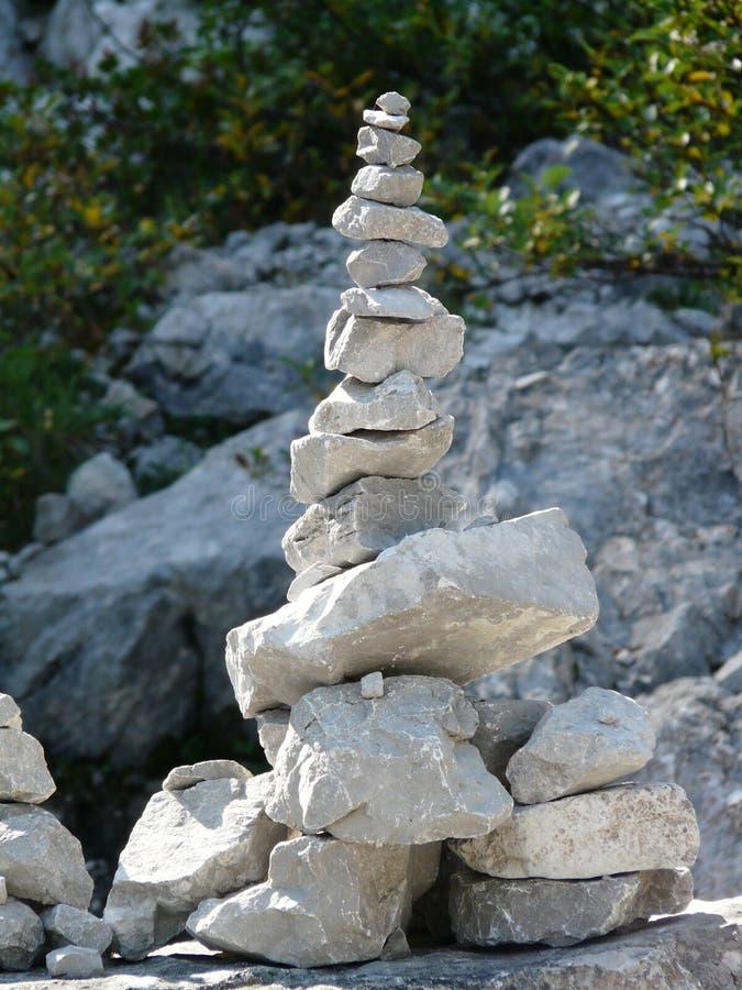 Grey Stack Stones royalty free stock photos