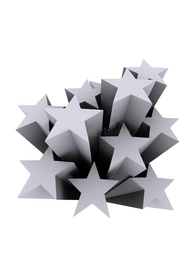 Free Grey Stars Royalty Free Stock Image - 2036016