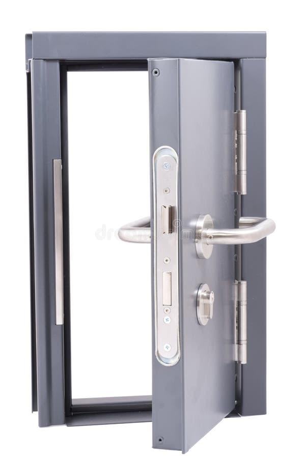 Download Grey steel door open stock image. Image of lock, background - 25831745