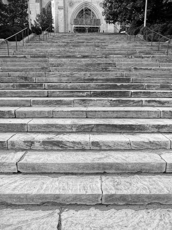 Grey Steps der nationalen Kathedrale stockfoto