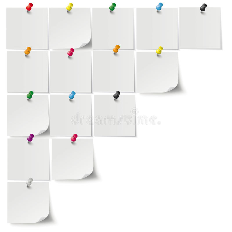 Free Grey Stickers Colored Pins Stock Photography - 50340902