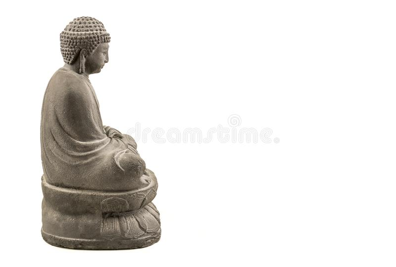 Grey stone japanese buddha stock photo