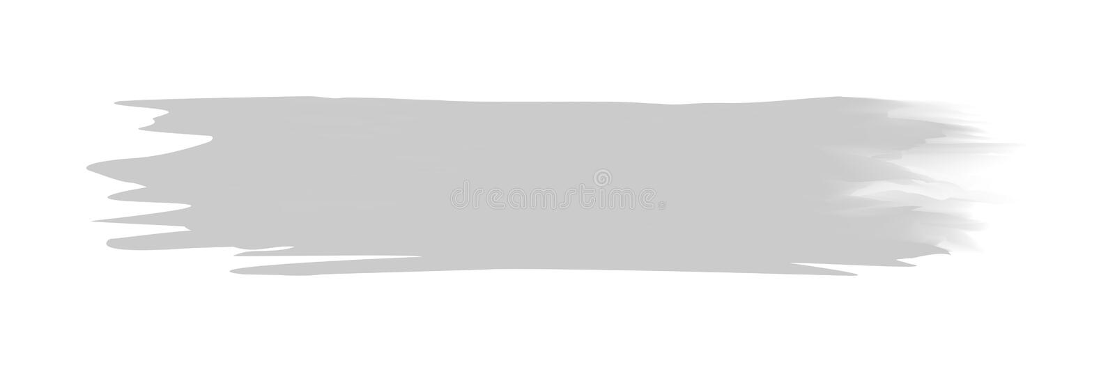Grey stripe painted in watercolor on clean white background, grey watercolor brush strokes, illustration paint brush digital soft. The grey stripe painted in royalty free illustration