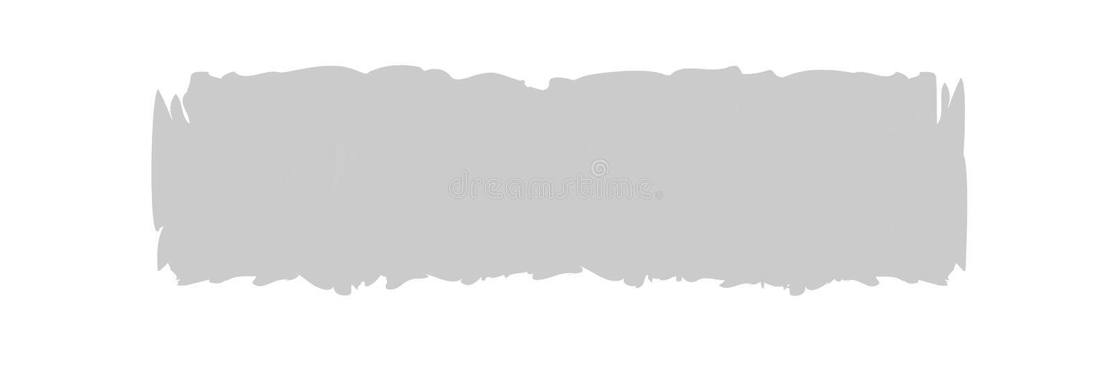 Grey stripe painted in watercolor on clean white background, grey watercolor brush strokes, illustration paint brush digital soft. The grey stripe painted in vector illustration