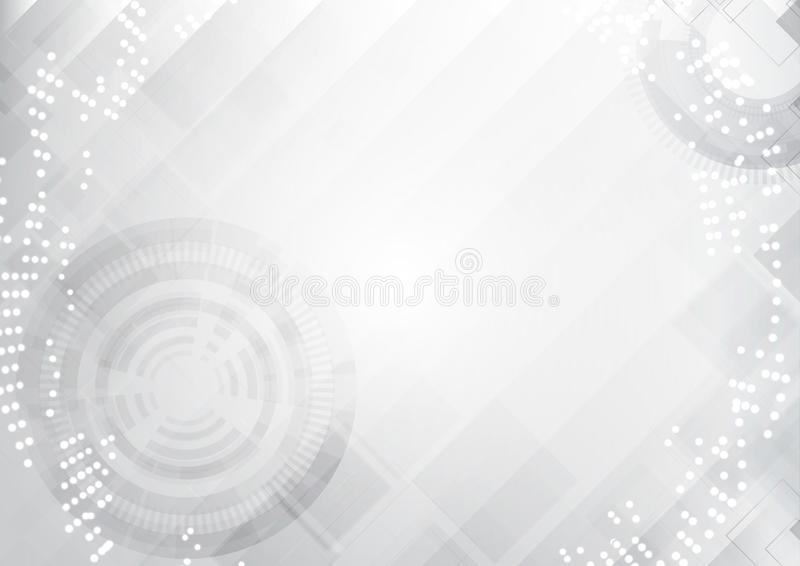 Grey Technology Abstract Background vektor abbildung
