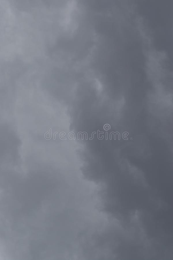 Thunder storm clouds building over the Gauteng Highveld in South Africa. Grey threatening thunder storm clouds image for background use image with copy space royalty free stock images