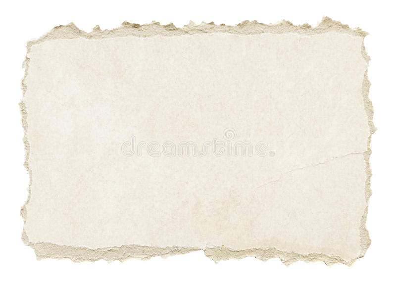Grey torn grunge paper texture. Isolated on white background royalty free stock photo