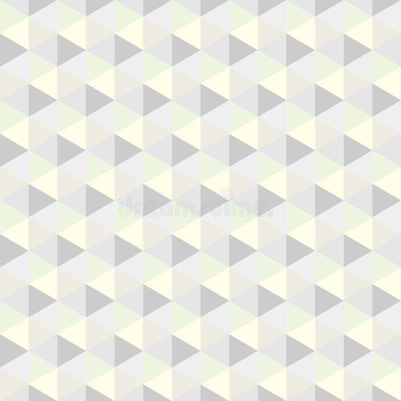 Grey triangle, pattern. Seamless vector design Abstract stock illustration