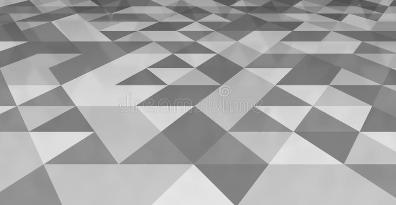 Grey triangle tiles flooring, white texture pattern background vector illustration