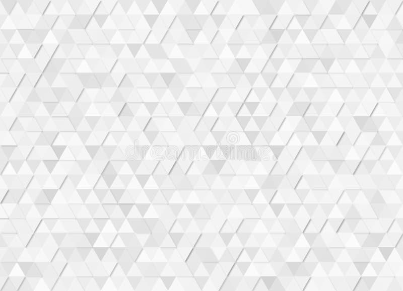 Grey Triangles Pattern Background géométrique brillant avec l'effet de mosaïque illustration stock